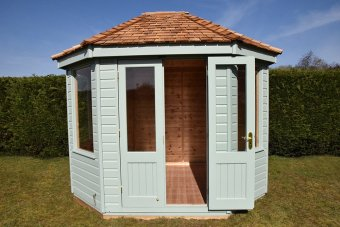 Classic Summerhouse painted in Seagrass