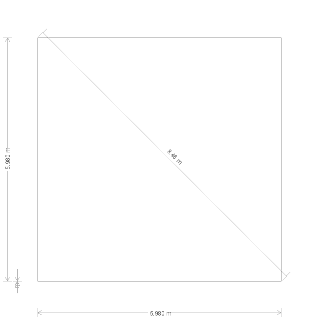 20 x 20ft Pavilion Garden Room  (12819) base plan