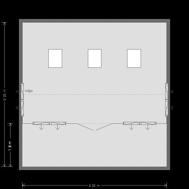 20 x 20ft Pavilion Garden Room  (12819) floorplan