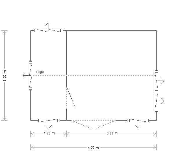 10 x 14ft Apex Garden Room  (13917) floorplan