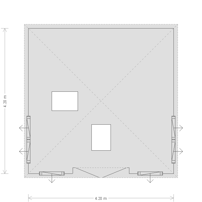 14 x 14ft Garden Room  (15955) floorplan