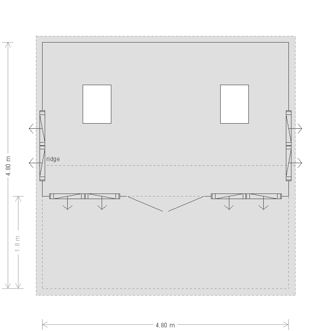 16 x 16ft Pavilion Garden Room  (18339) floorplan
