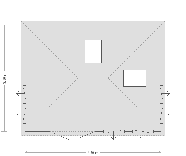 12 x 15ft Garden Room (18397) floorplan