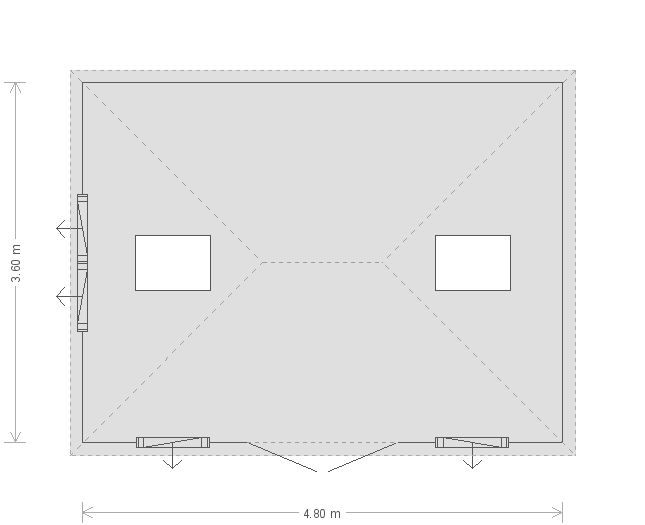 12 x 16ft Garden Room in Shiplap Cladding  (18507) floorplan