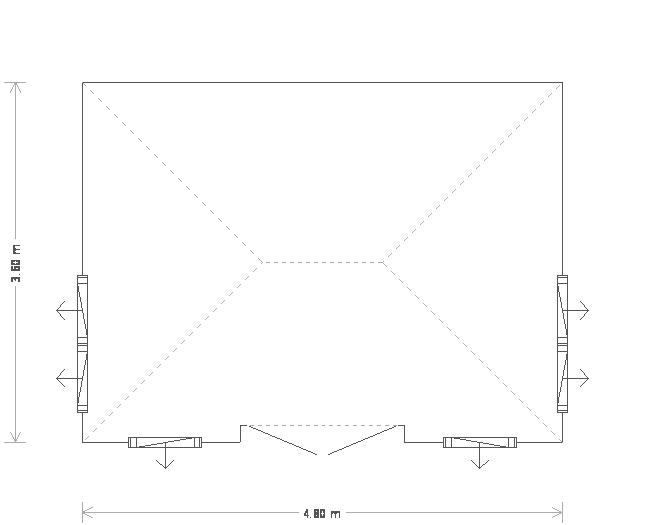 12 x 16ft Garden Room with Slate Roof  (18695) floorplan