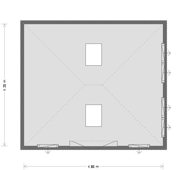 14 x 16ft Garden Room with Velux  (19767) floorplan