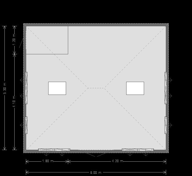 17 x 20ft Garden Room (23099) floorplan