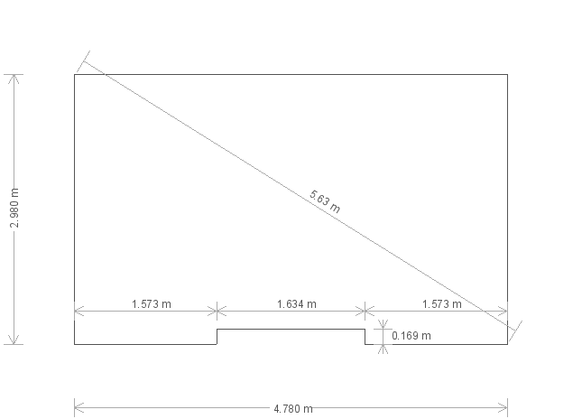 10 x 16ft Garden Room (24523) base plan