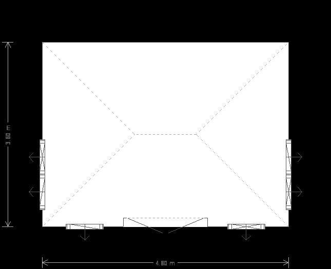 12 x 16ft Garden Room (24777) floorplan