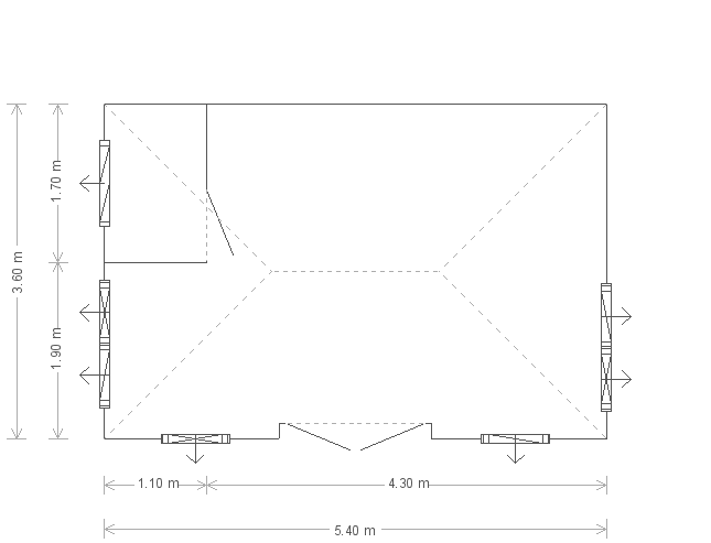 12 x 18ft Garden Pool Room (25001) floorplan