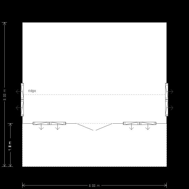 20 x 20 Garden Room With Veranda With Apex Roof  (5693) floorplan