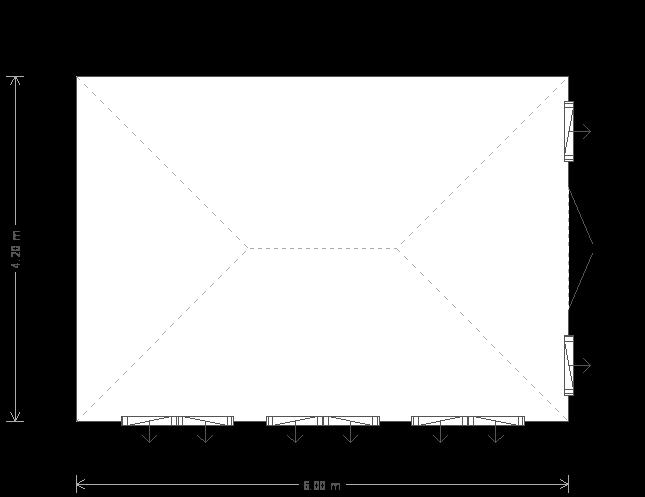 14 x 20 Garden Room with Weatherboard (5923) floorplan