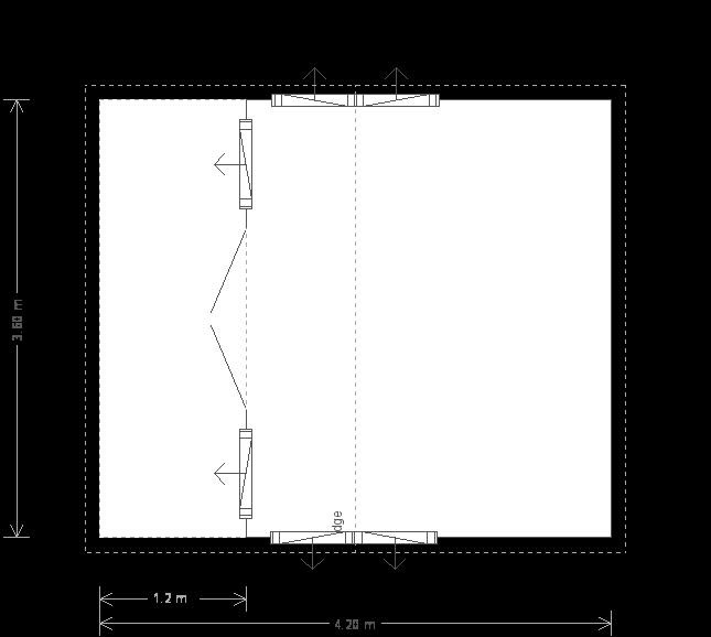 14 x 12 Garden Room with Veranda (6761) floorplan