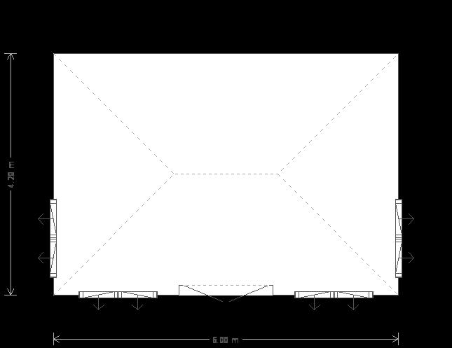 14 x 20 Garden Room - Plans (8247) floorplan