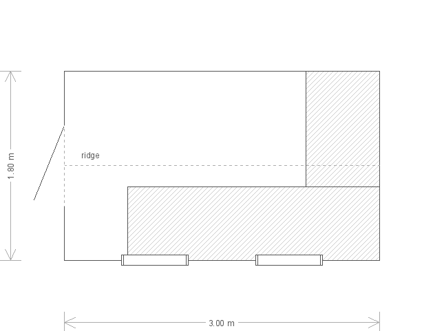 6 x 10ft Classic Shed with Window Set (10899) floorplan