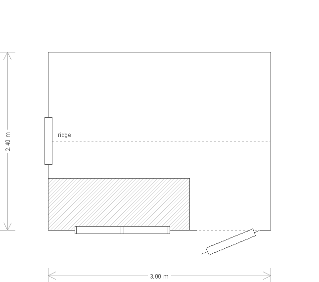 8 x 10 Superior Shed with Apex Roof in Pebble Paint (Ref: 11) (11) floorplan