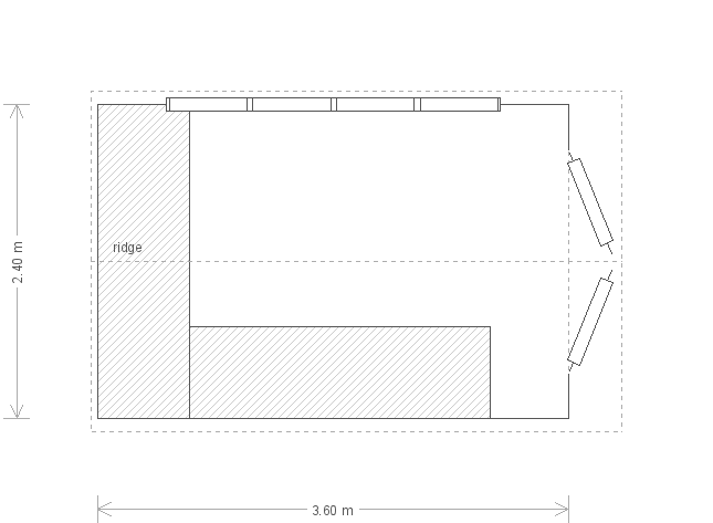 8 x 12ft Superior Shed with Slate Tiled Roof (11041) floorplan