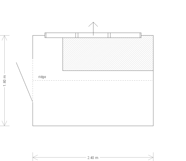 6 x 8ft Superior Shed with Heavy-Duty Felt  (11049) floorplan