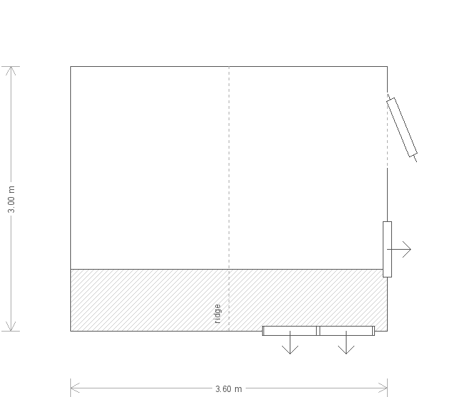 12 x 10ft Superior Shed with Electrics (11099) floorplan