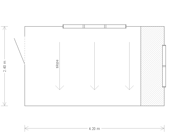 8 x 14 Superior Shed with Pent Roof (Ref: 116) (116) floorplan