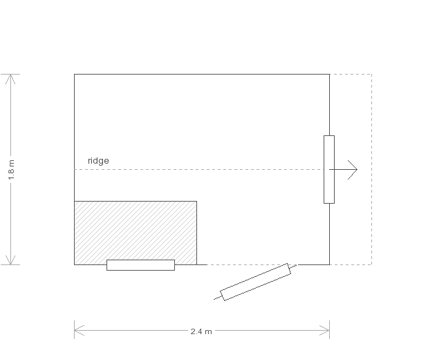 6 x 8 Superior Shed with Apex Roof (Ref: 13) (13) floorplan