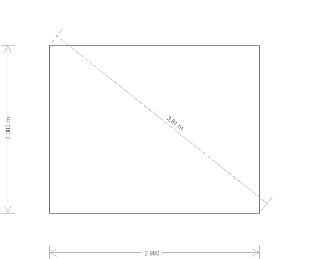 10 X 8 Superior Shed With Pent Roof (17211) base plan