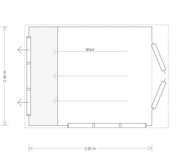 10 X 8 Superior Shed With Pent Roof (17211) floorplan