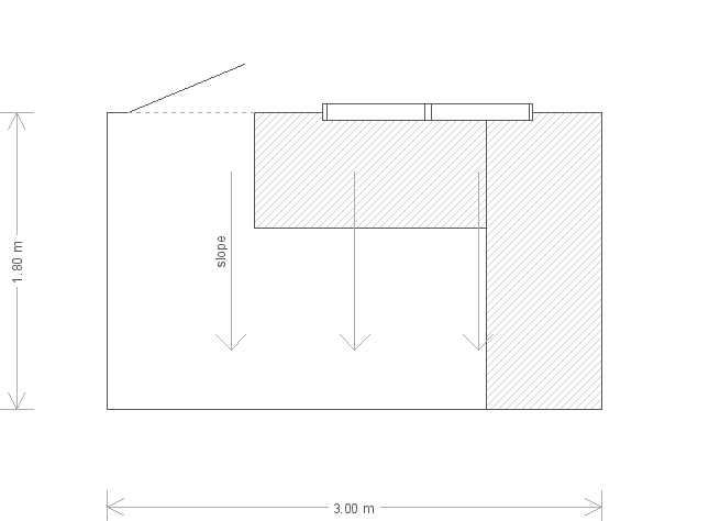 6 X 10 Classic Shed With Pent Roof lined in Heavy Duty Felt (17231) floorplan