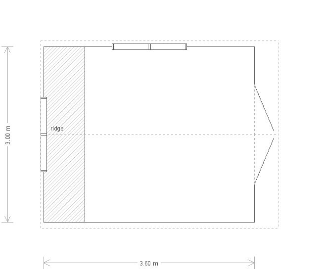 10 X 12 Superior Shed (17319) floorplan
