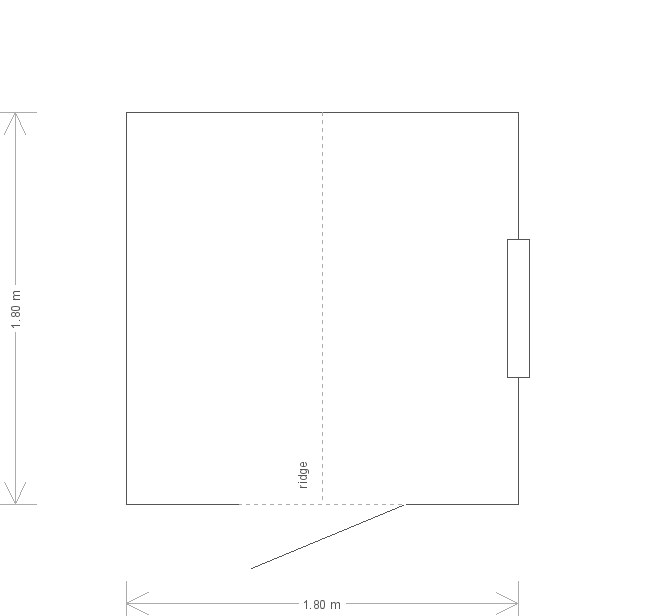 10 X 10 Classic Shed With Apex Roofplan (17541) floorplan