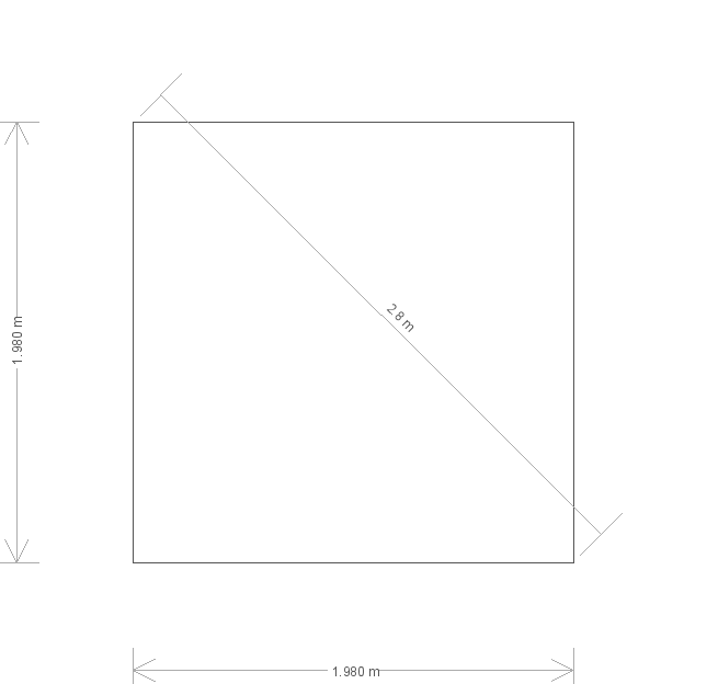 7 x 7ft Superior Shed (18969) base plan
