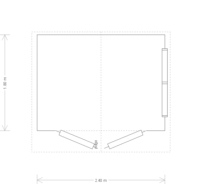 8 x 6ft Garden Shed with Roof Overhang  (19471) floorplan