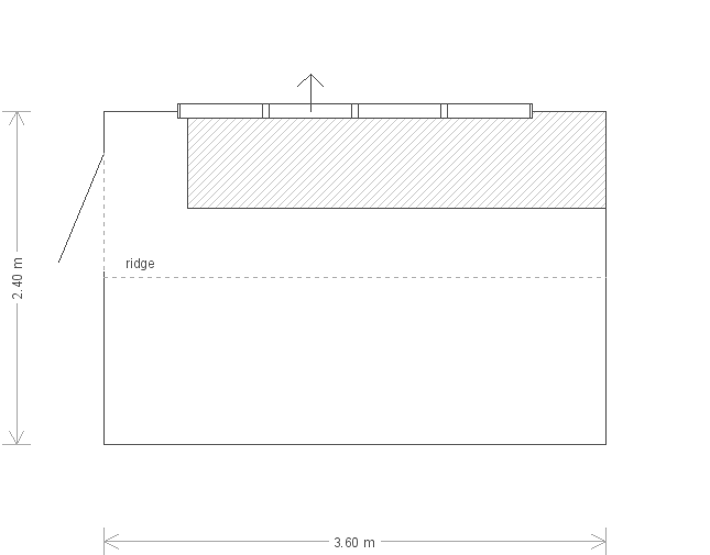 8 x 12 Superior Shed with Apex Roof (Ref: 199) (199) floorplan
