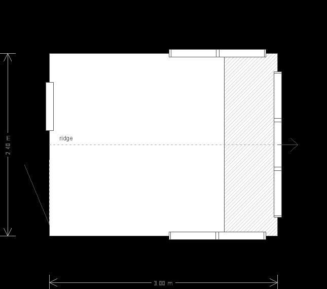8 X 10 Superior Shed - (Ref: 2) (2) floorplan