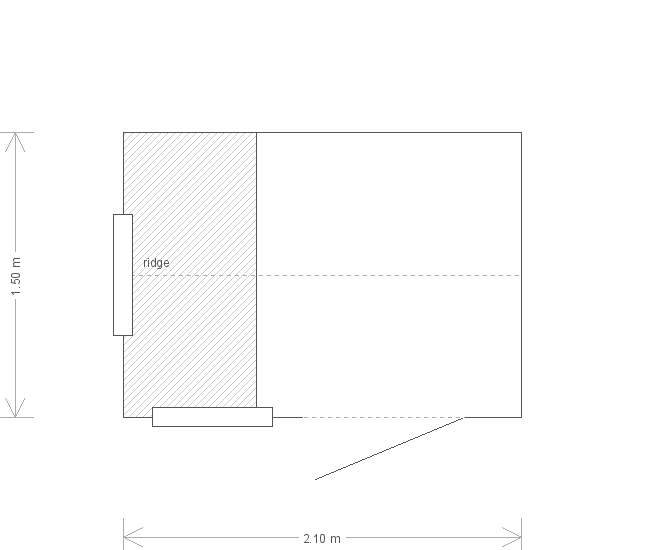 5 x 7ft Superior Shed in Light Oak Preservative (20237) floorplan