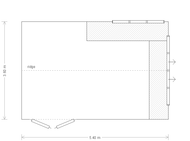 12 x 18 Superior Shed (2057) floorplan