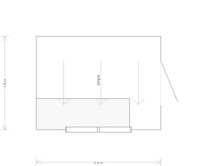 6 x 8 Superior Shed with Pent Roof (Ref: 21) (21) floorplan