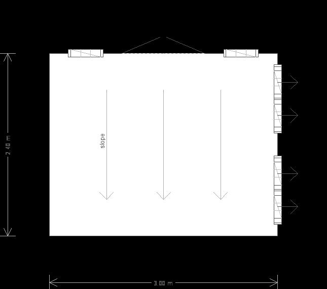 8 x 10ft Pent Roof Summerhouse (23291) floorplan