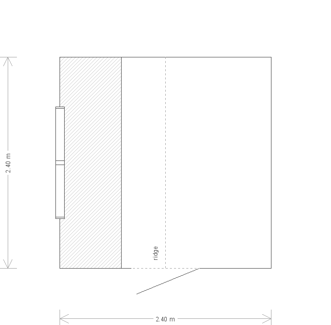 8 x 8ft Painted Garden Shed (24595) floorplan