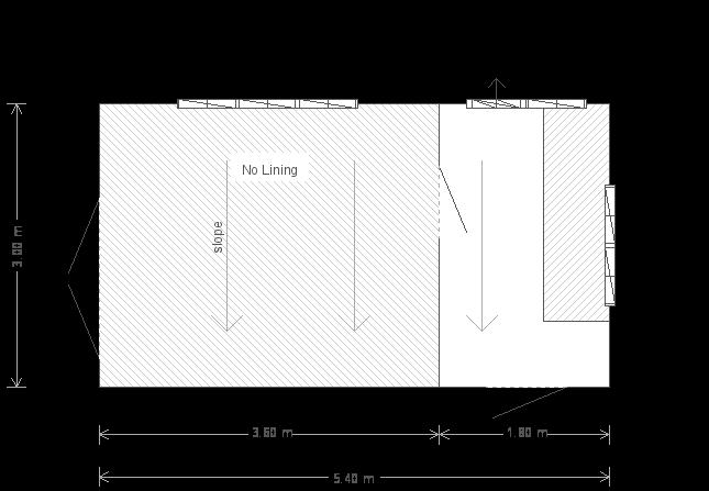 10 x 18ft Pent Roof Garden Shed (24911) floorplan