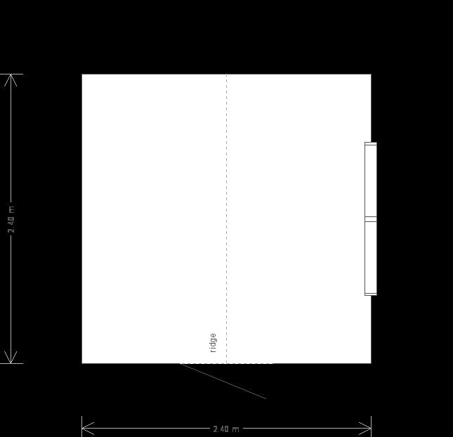 8 x 8 Classic Shed (Ref: 313) (313) floorplan