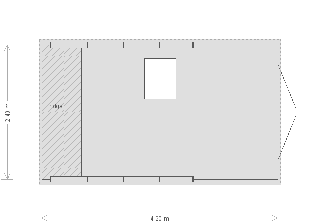 8 x 14 Superior Shed with Apex Roof (Ref: 445) (445) floorplan