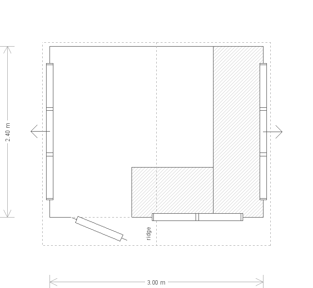 10 x 8 Superior Shed (4887) floorplan