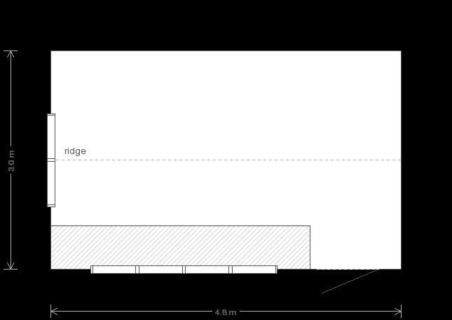 10 x 16 Garden Shed (Ref: 49) (49) floorplan