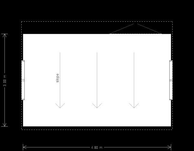 10 x 16 Superior Shed (Ref: 575) (575) floorplan