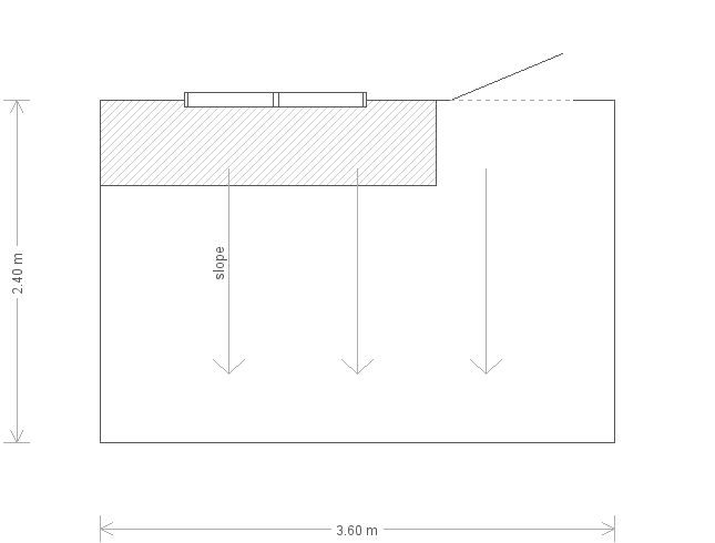 8 x 12 Superior Shed with Pent Roof (Ref: 645) (645) floorplan