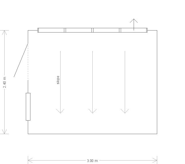 8 x 10 Superior Shed with Pent Roof : Front