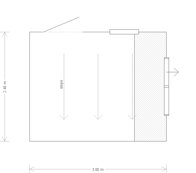 8 x 10 Superior Shed with Pent Roof (Ref: 78) (78) floorplan