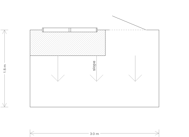6 x 10 Pent Superior Shed (Ref: 90) (90) floorplan