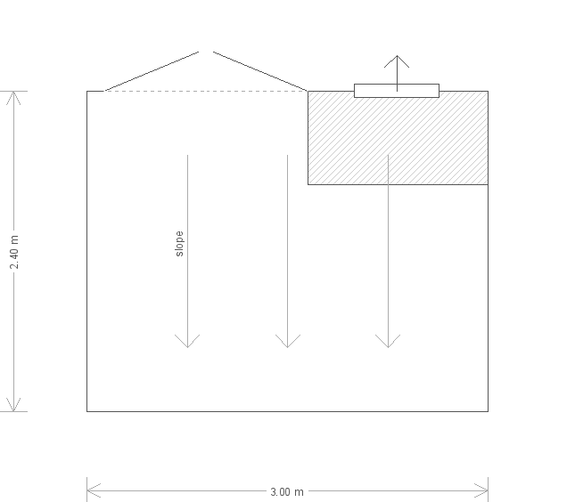 8 X 10 Classic Shed With Pent Roof Plan (9499) floorplan